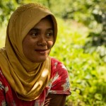 Sumatran woman coffee grower